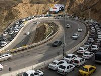 ترافیک پرحجم در محورهای هراز و فیروزکوه