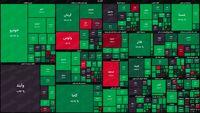 نقشه بورس امروز بر اساس ارزش معاملات/ اقبال سهامداران اکثریت بازار را سبزپوش کرد