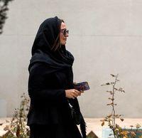 گلاره عباسی در مراسم تشییع پیکر فرجالله حیدری +عکس