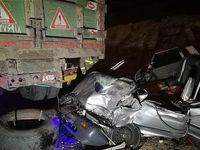 مرگ دلخراش مرد جوان پس از مچاله شدن خودرو +تصاویر