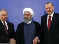 نشست مطبوعاتی مشترک روحانی با همتایان ترکیهای و روس در آنکارا +فیلم