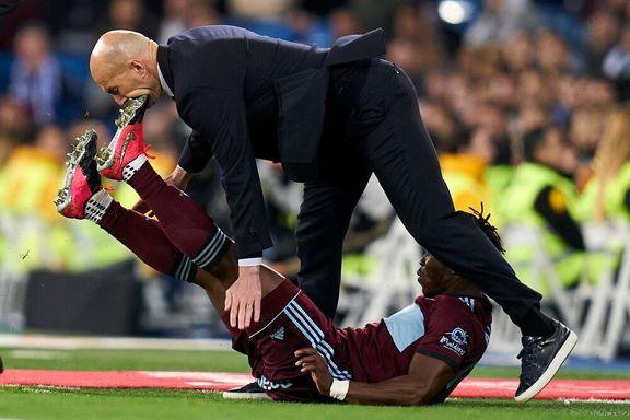 لگد بازیکن فوتبال به صورت زیدان! +عکس