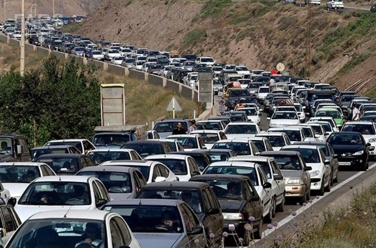 ترافیک نیمه سنگین در آزادراه کرج-قزوین و تهران-کرج