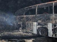واژگونی یک اتوبوس در محور کرمانشاه به کامیاران