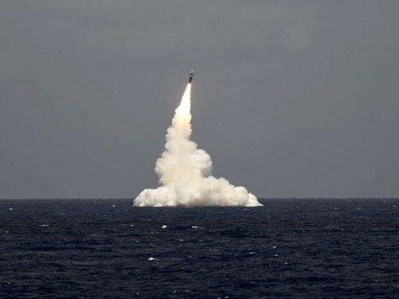 """آمریکا موشک بالستیک """"ترایدنت"""" آزمایش کرد"""