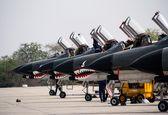 تمرین مشترک هوایی نیروهای مسلح در پایگاه نهم شکاری +تصاویر