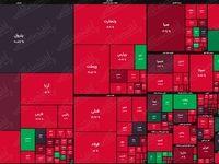 نقشه بازار سهام بر اساس ارزش معاملات/ روی سرخ بازار باز هم نمایان شد