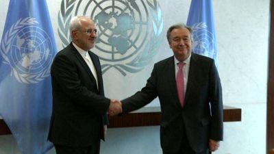 دیدار ظریف با دبیرکل سازمان ملل در نیویورک +عکس