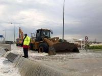 بارش باران در قطر به سیل انجامید +عکس