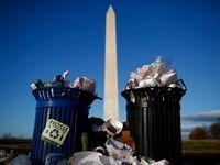 انباشته شدن زبالهها در اطراف کاخ سفید +تصاویر