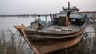 کشتیهای به گل نشسته +تصاویر