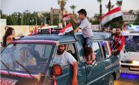 جشن خیابانی مردم سوریه پس از پیروزی اسد + عکس
