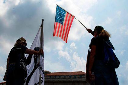 تظاهرات نژادپرستان در واشنگتن +تصاویر