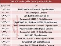 پرفروشترین دوربینهایعکاسی کانن ؟+قیمت