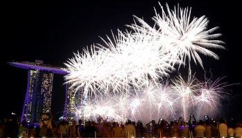 تصاویر زیبا از آتش بازی شروع سال نوی میلادی