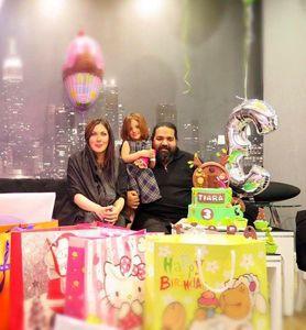 رضا صادقی و همسرش در جشن تولد +عکس