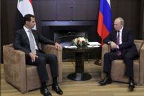 بشار اسد با یک هواپیمای