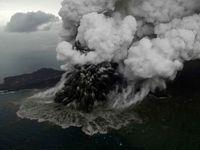 آتشفشان ۱۵۰میلیون مترمربع از جزیره را بلعید!