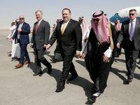 استقبال رسمی عربستان از وزیر خارجه آمریکا +عکس
