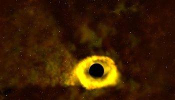 وقتی سیاهچاله یک ستاره را میبلعد! + عکس