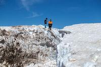 برف 10 متری در خردادماه +عکس