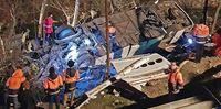 سقوط مرگبار اتوبوس به دره در جاده سوادکوه +تصاویر