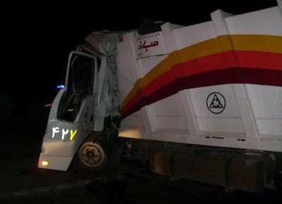 مرگ زن ۴۵ ساله در برخورد با خودرو حمل زباله