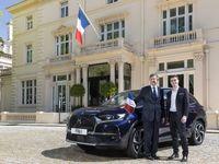 خودروی سفیر فرانسه در انگلیس +عکس