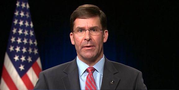 وزیر دفاع آمریکا: هیچ قصدی برای خروج از عراق نداریم