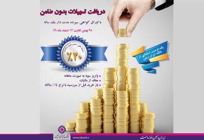 دریافت تسهیلات بدون ضامن در بانک ایران زمین