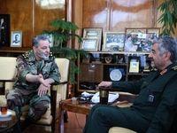 فرمانده سپاه به دیدار فرمانده جدید ارتش رفت +عکس