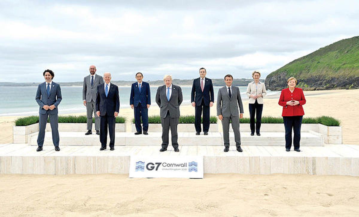 نشست سران G۷ در لندن آغاز شد