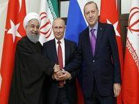 اردوغان: هر ۱۵روز با روحانی و پوتین دیدار میکنم