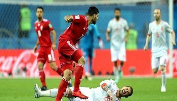 تساوی ایران و اسپانیا تا پایان نیمه اول
