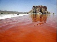 دریاچه ارومیه دوباره قرمز شد