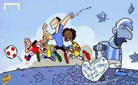 مسی تنها، مسی غمگین! (کاریکاتور)