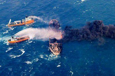 حمله آتشخواران به سانچی +تصاویر