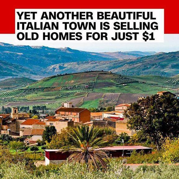 خرید خانه در ایتالیا فقط با یک دلار!