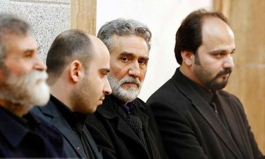 چهره ها در مراسم ختم حسن جوهرچی