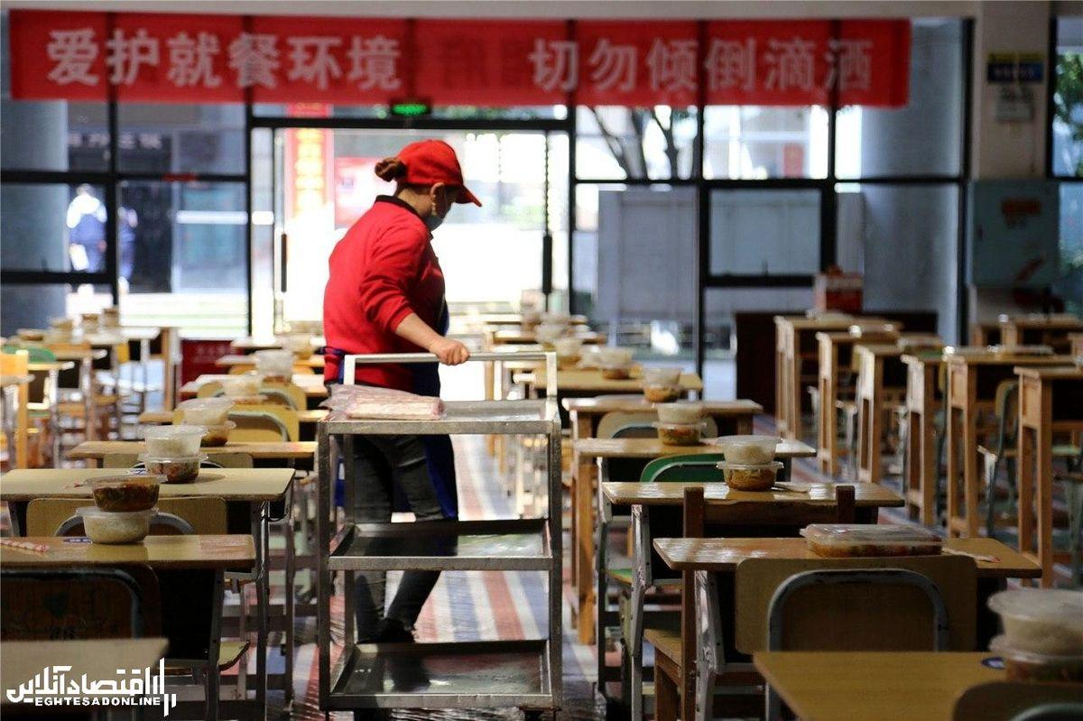 تغییر کاربری سالنهای ورزشی برخی مدارس چین +عکس