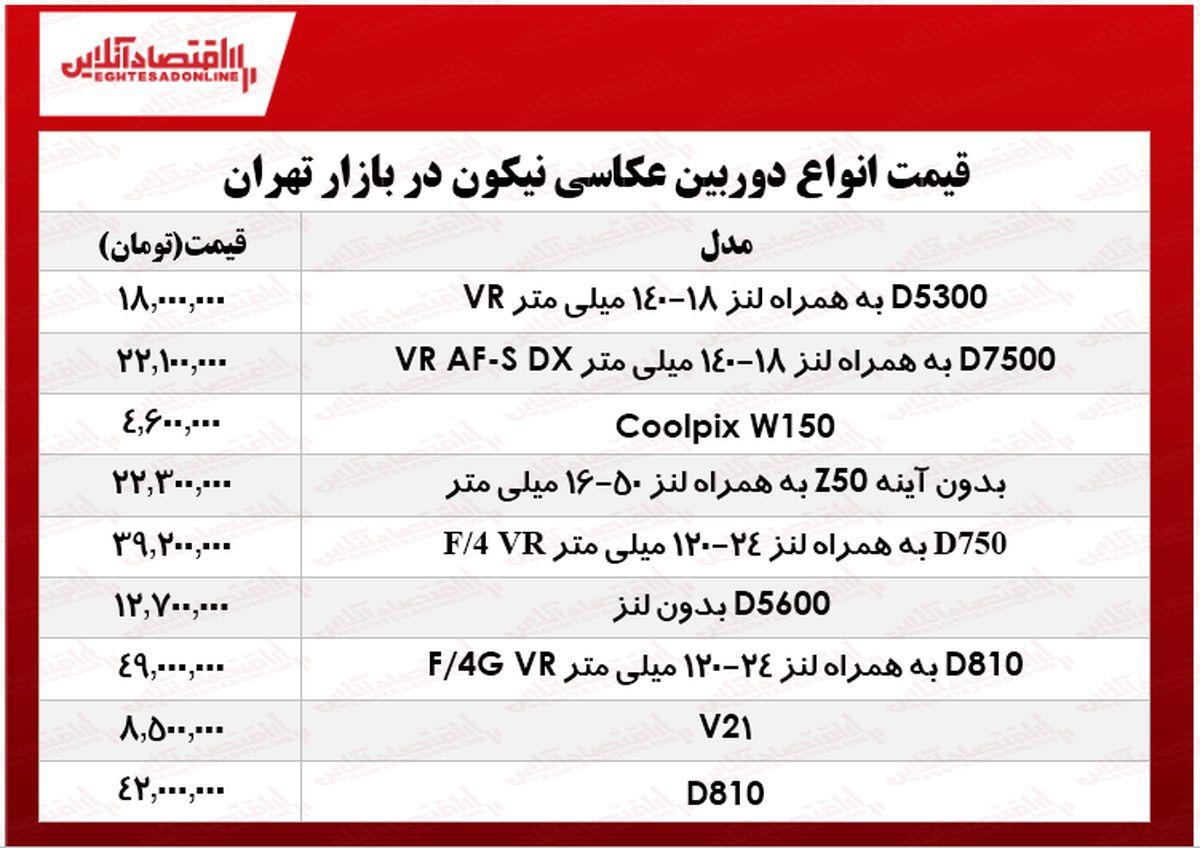 قیمت انواع دوربینهای عکاسی نیکون در بازار چند؟ +جدول