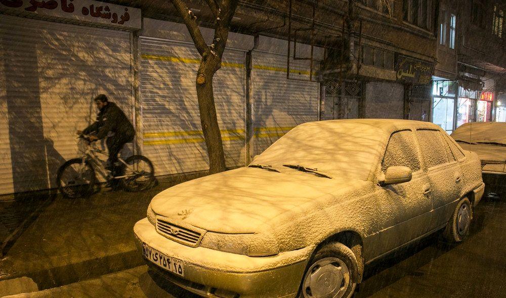 بارش برف تبریز