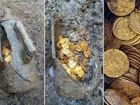 کشف کوزهای پر از سکههای عتیقه +تصاویر
