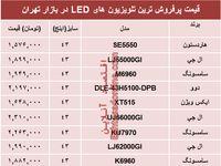 قیمت انواع تلویزیونهای LED در بازار؟ +جدول