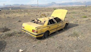 واژگونی خودرو پژو تاکسی۲کشته بر جا گذاشت