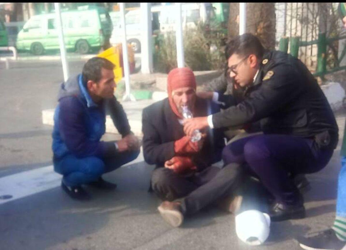 اقدام زیبای پلیس در خیابان ولیعصر