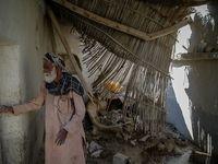 خسارت سیل در روستای عورکیِ«سیستان و بلوچستان»  +عکس