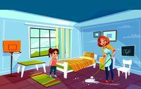 نظافت منزل وظیفه همه اعضای خانواده