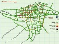 وضعیت ترافیک اکنون تهران +نقشه