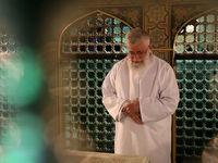 حضور رهبر معظم انقلاب در مراسم غبار روبی حرم امام رضا +فیلم